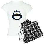 Mustache Penguin Trend Women's Light Pajamas