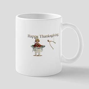 Thanksgiving Wishbone Girl Mugs
