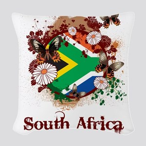 Butterfly South Africa Woven Throw Pillow