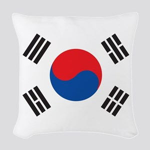 South Korea Woven Throw Pillow