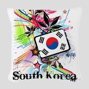 Flower South Korea Woven Throw Pillow