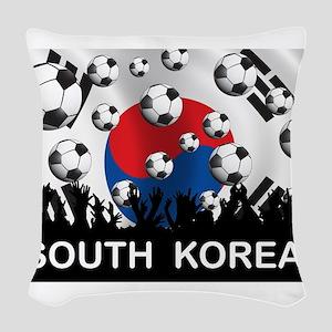 South Korea Football Woven Throw Pillow