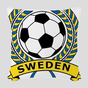 Soccer Sweden Woven Throw Pillow