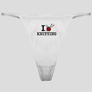 I Love Knitting Classic Thong