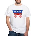 Strk3 Donner Party Logo White T-Shirt