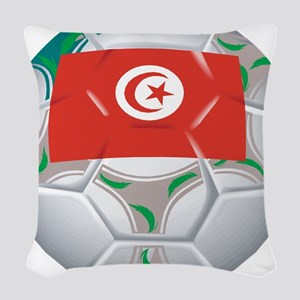 Tunisia Soccer Woven Throw Pillow