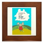 Country Mouse Framed Tile