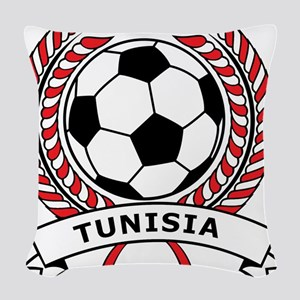 Soccer Tunisia Woven Throw Pillow