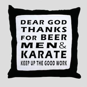 Beer Men and Karate Throw Pillow