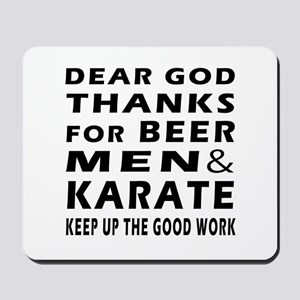 Beer Men and Karate Mousepad
