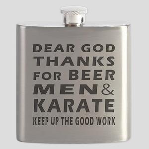Beer Men and Karate Flask