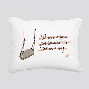Book and a Swing Rectangular Canvas Pillow