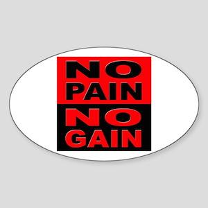 No Pain No Gain Oval Sticker