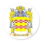 Casella Round Car Magnet