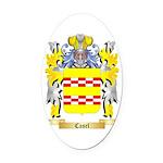 Casel Oval Car Magnet