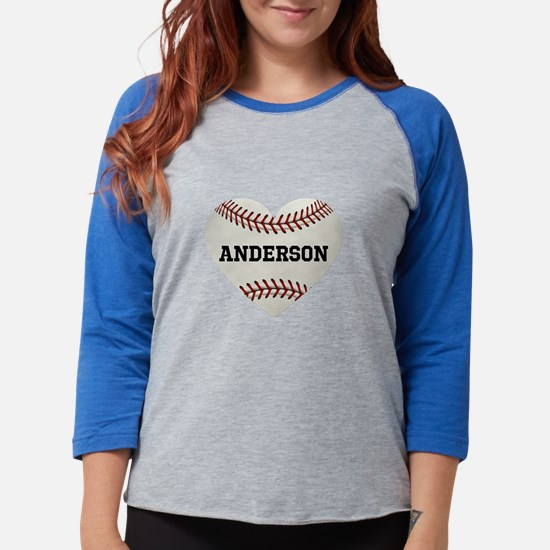 Baseball Love Personalized Womens Baseball Tee