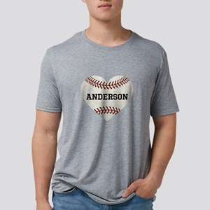 Baseball Love Personalized Mens Tri-blend T-Shirt