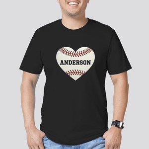 Baseball Love Personal Men's Fitted T-Shirt (dark)