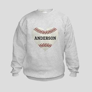 Baseball Love Personalized Kids Sweatshirt