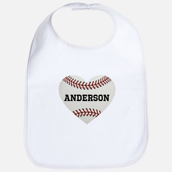 Baseball Love Personalized Cotton Baby Bib