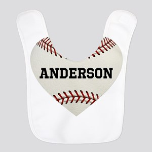 Baseball Love Personalized Polyester Baby Bib