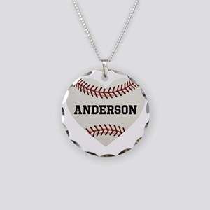 Baseball Love Personalized Necklace Circle Charm
