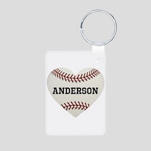 Baseball Love Personalized Aluminum Photo Keychain