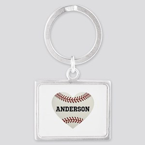 Baseball Love Personalized Landscape Keychain