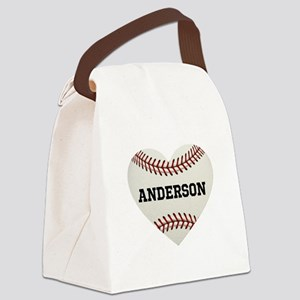 Baseball Love Personalized Canvas Lunch Bag
