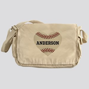 Baseball Love Personalized Messenger Bag