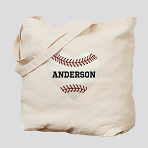 Baseball Love Personalized Tote Bag