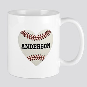 Baseball Love Personalized 11 oz Ceramic Mug