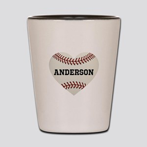 Baseball Love Personalized Shot Glass