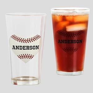 Baseball Love Personalized Drinking Glass