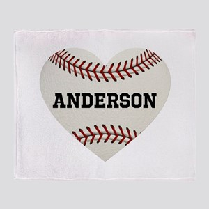 Baseball Love Personalized Throw Blanket