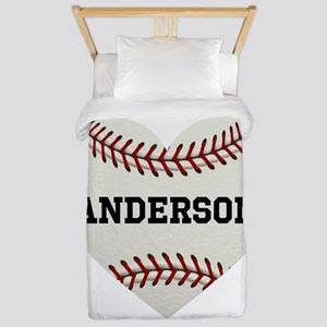 Baseball Love Personalized Twin Duvet Cover