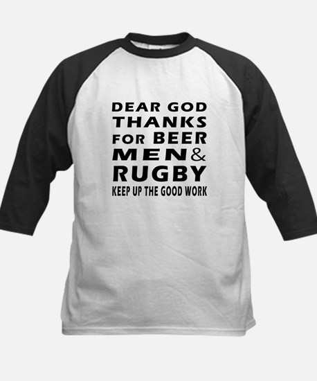 Beer Men and Rugby Kids Baseball Jersey