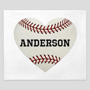 Baseball Love Personalized King Duvet