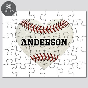 Baseball Love Personalized Puzzle