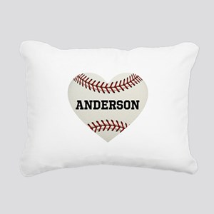 Baseball Love Personaliz Rectangular Canvas Pillow