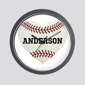 Baseball Love Personalized Wall Clock