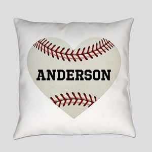 Baseball Love Personalized Everyday Pillow