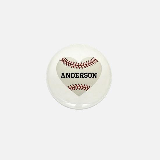 Baseball Love Personalized Mini Button