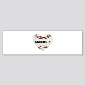 Baseball Love Personalized Sticker (Bumper)