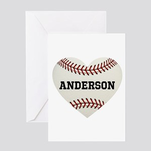 Baseball Love Personalized Greeting Card