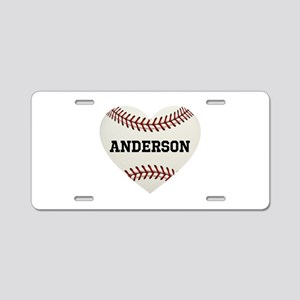 Baseball Love Personalized Aluminum License Plate