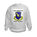 504TH PARACHUTE INFANTRY REGIMENT Kids Sweatshirt