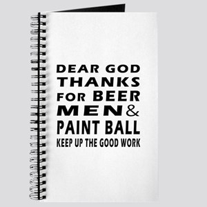 Beer Men and Paint Ball Journal