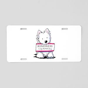 Vital Signs: KINDNESS Aluminum License Plate