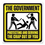 "The Government Square Car Magnet 3"" x 3"""